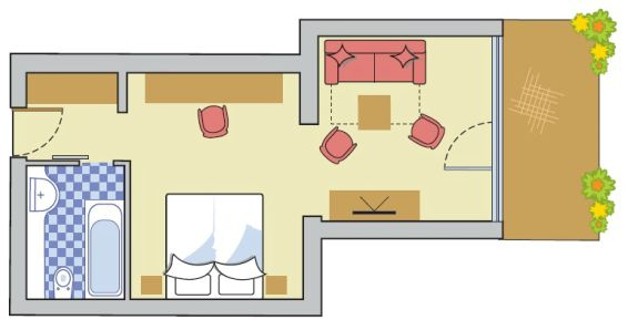 Layout Double Room Alpin