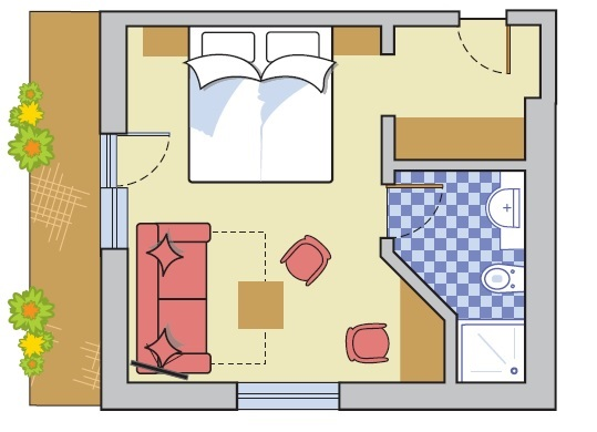 Layout Double Room Bergblick