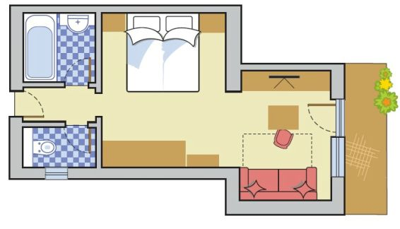 Layout Double Room Edelweiss
