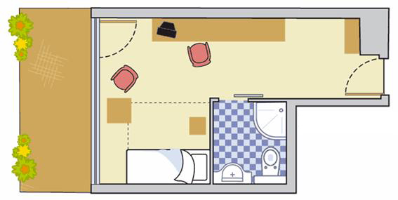 Layout Single Room